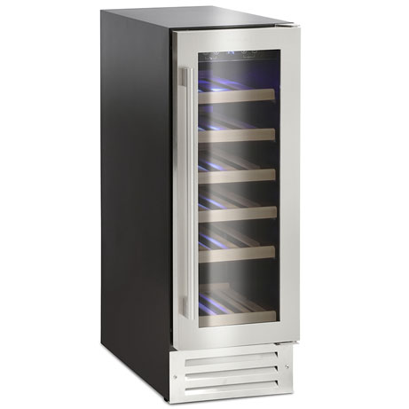 19 bottle wine cooler with door closed