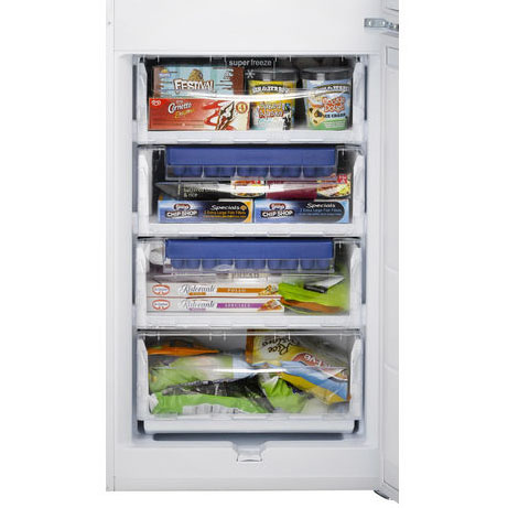 hotpoint fridge freezer showing freezer