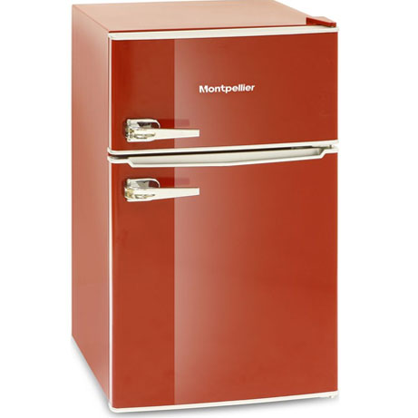 Montpellier Retro Fridge Freezer - Red