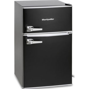 Montpellier retro fridge freezer black