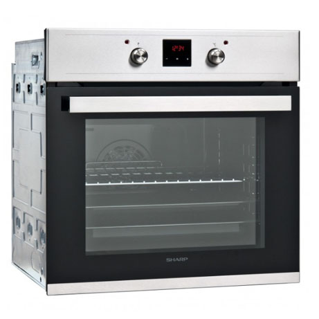 sharp oven with pop in pop out controls