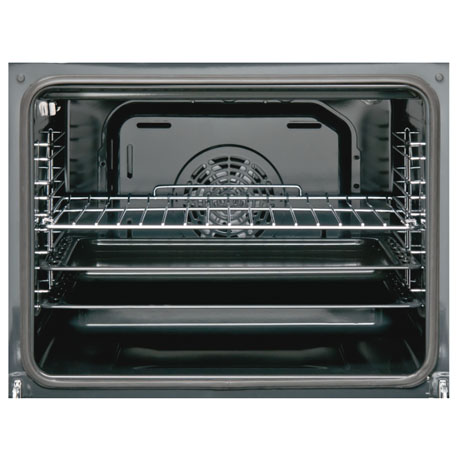 sharp oven interior with racks and baking trays
