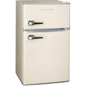 montpellier retro mini fridge freezer side view