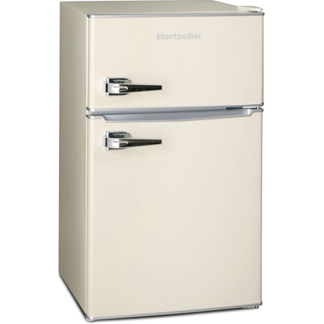 montpellier retro mini fridge freezer side view