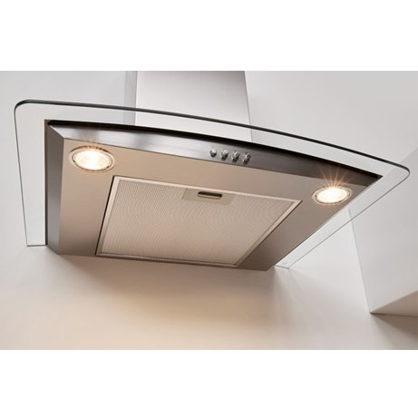 Indesit Cooker Hood with the lights on