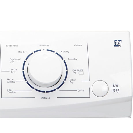 white knight condenser dryer control dial