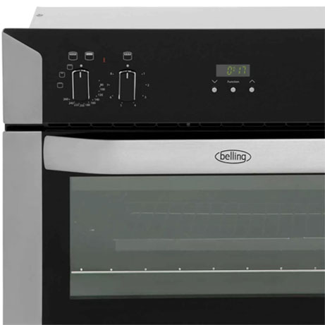 Belling built-in oven showing fascia panel