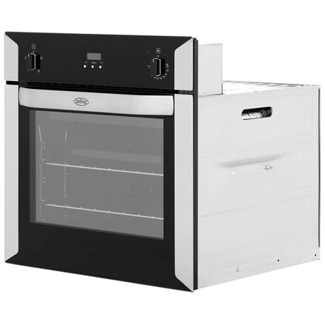 Belling single oven side angle