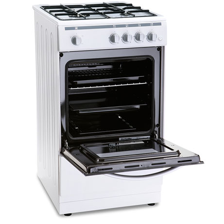 montpellier gas cooker with the door open