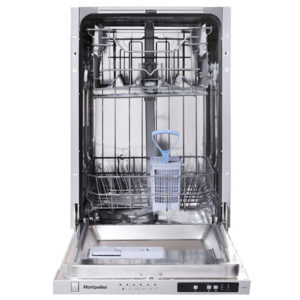 Montpellier fully integrated dishwasher with the door open
