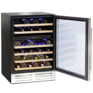 Montpellier wine fridge with the door open
