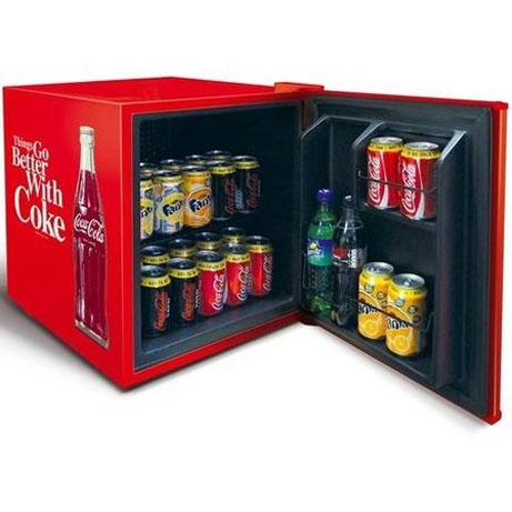 Coca-Cola Drinks Chiller with the door open