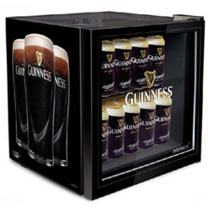 guiness drinks chiller with glass door