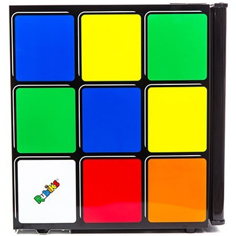 rubiks cube drinks chiller side view