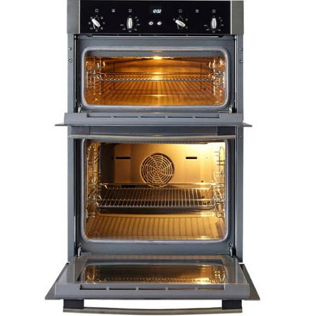 Neff double built-in oven with the doors open