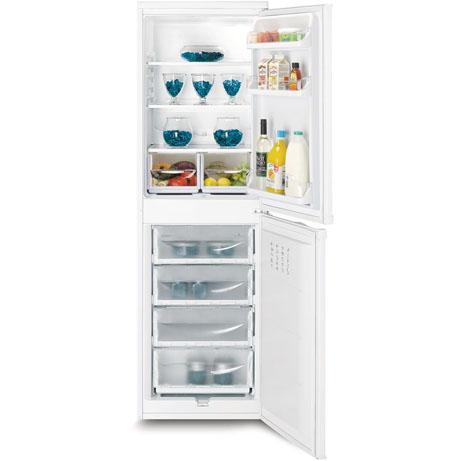 Indesit Fridge Freezer with the doors open