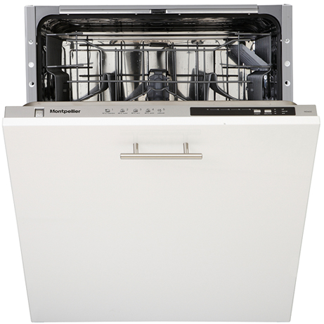 MONTPELLIER INTEGRATED DISHWASHER WITH THE DOOR HALF CLOSED
