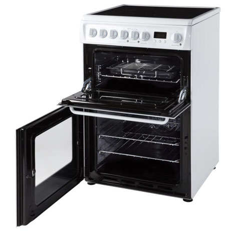 Hotpoint Cooker with Double Oven with the doors open