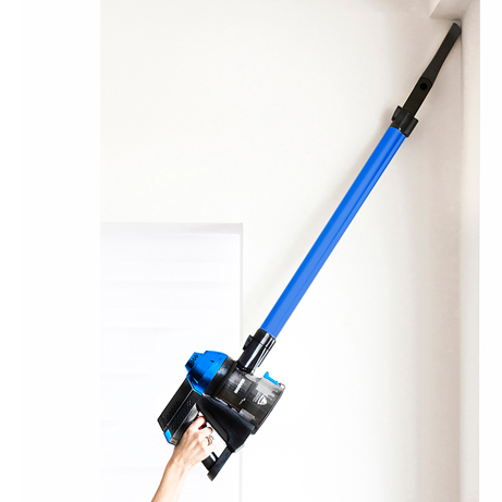 hoover cordless vacuum cleaner showing high reach