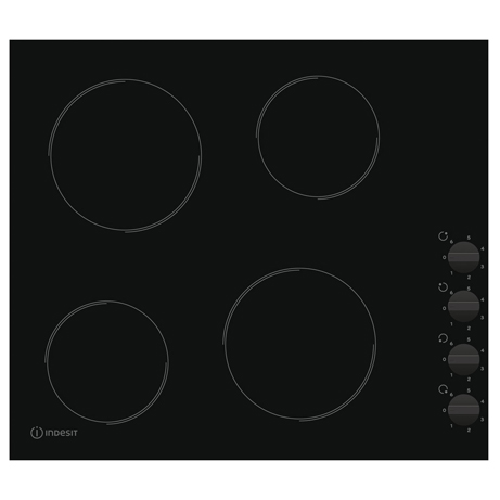 indesit ceramic hob