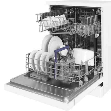 beko dishwasher with the door open