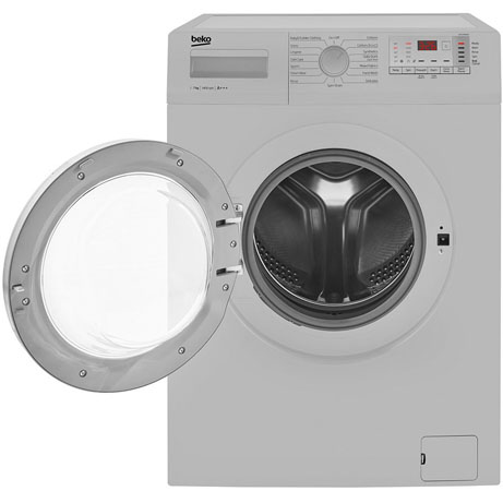 beko washing machine with the door open