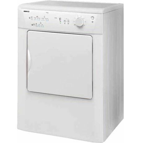 beko tumble dryer on a slight angle