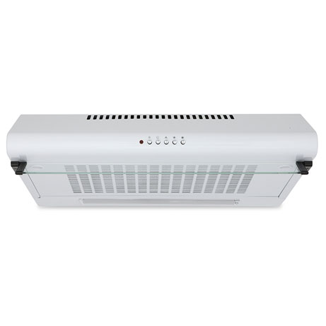 visor cooker hood in white