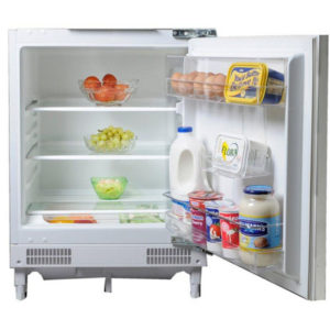 fridgemaster integrated larder fridge with the door open