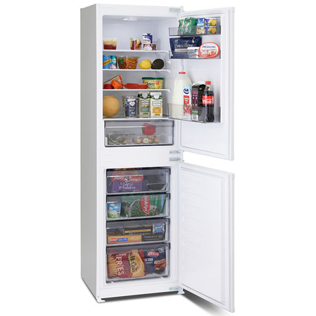 montpellier integrated fridge freezer full of food