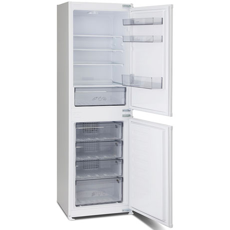 montpellier integrated fridge freezer with the doors open