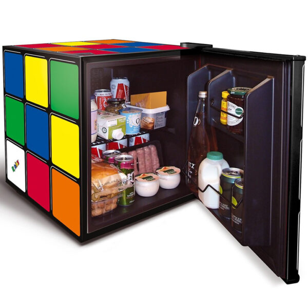 rubix fridge with the door open