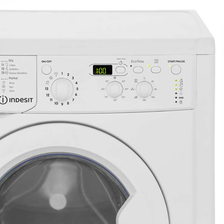 indesit washer dryer showing a close up view