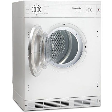 MONTPELLIER INTEGRATED TUMBLE DRYER WITH THE DOOR OPEN