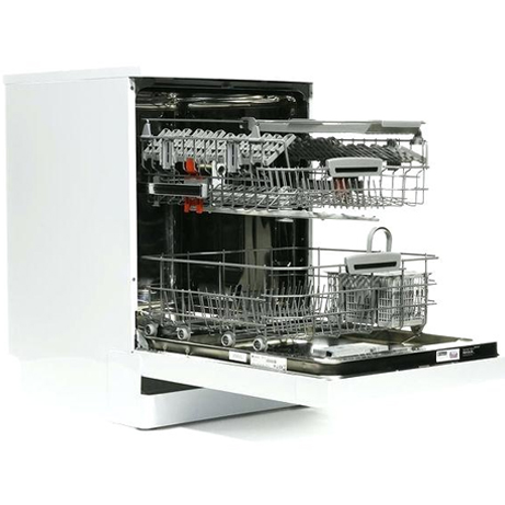 Hotpoint dishwasher with the baskets out