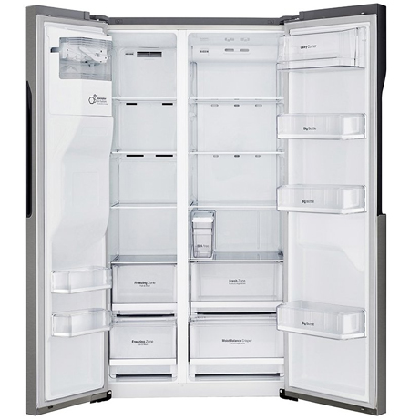 lg fridge freezer with the doors open