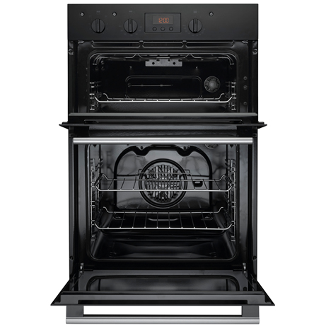 Hotpoint double oven with the doors open