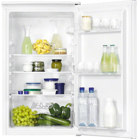 Zanussi Larder Fridge with the door open