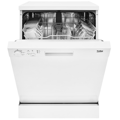 BEKO DISHWASHER WITH THE DOOR PARTIALLY OPEN