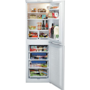 Hotpoint Fridge Freezer with the doors open