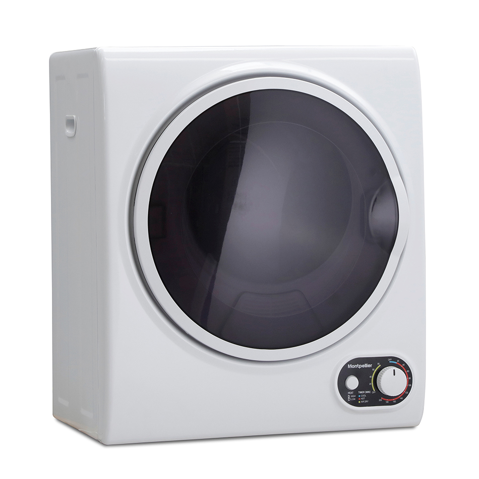 montpellier compact tumble dryer on an angle