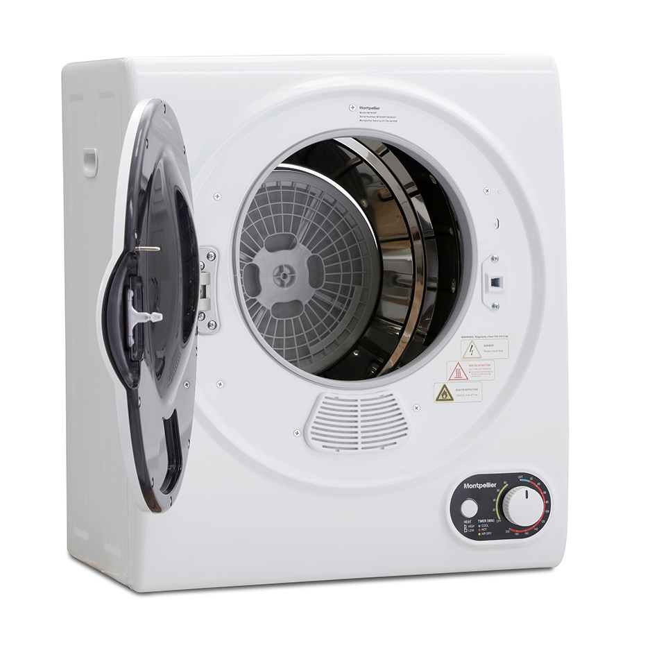 montpellier tumble dryer with the door open