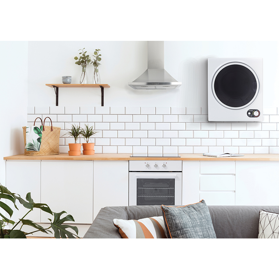 montpellier compact tumble dryer wall mounted