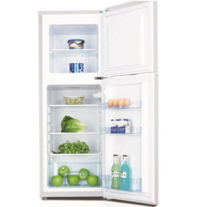 IceKing top mount fridge freezer with the doors open