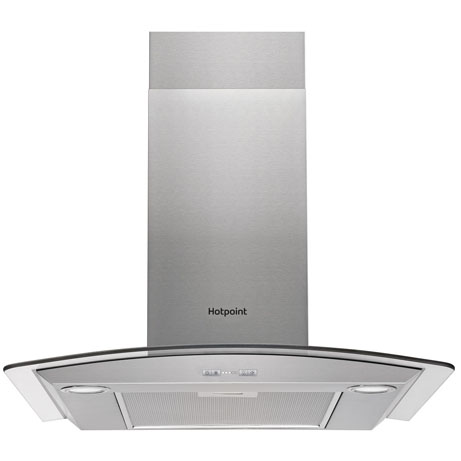 Hotpoint Curved Glass cooker hood