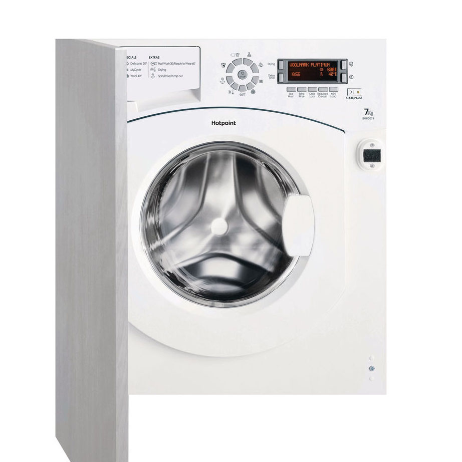 Hotpoint Integrated Washer Dryer with the door panel fitted