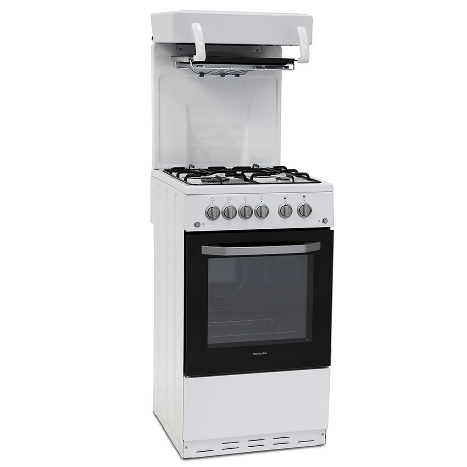 Montpellier cooker with eye level grill on an angle with the door closed