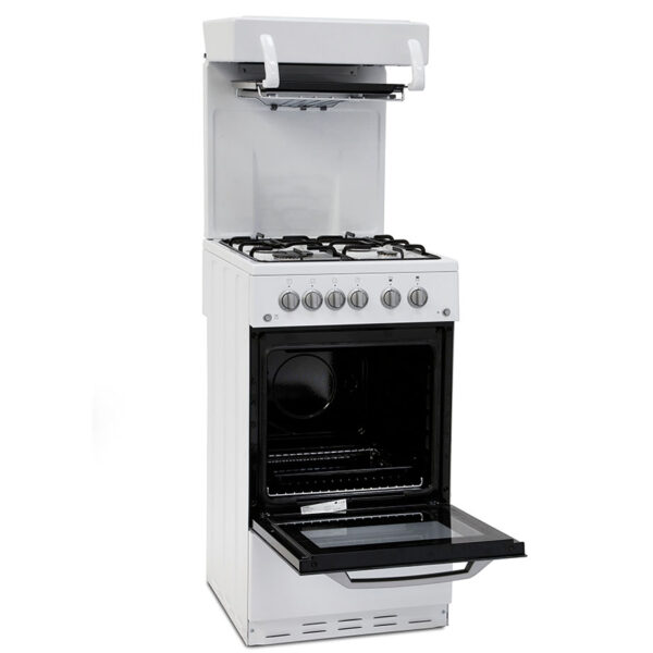Montpellier cooker with eye level grill and the door open