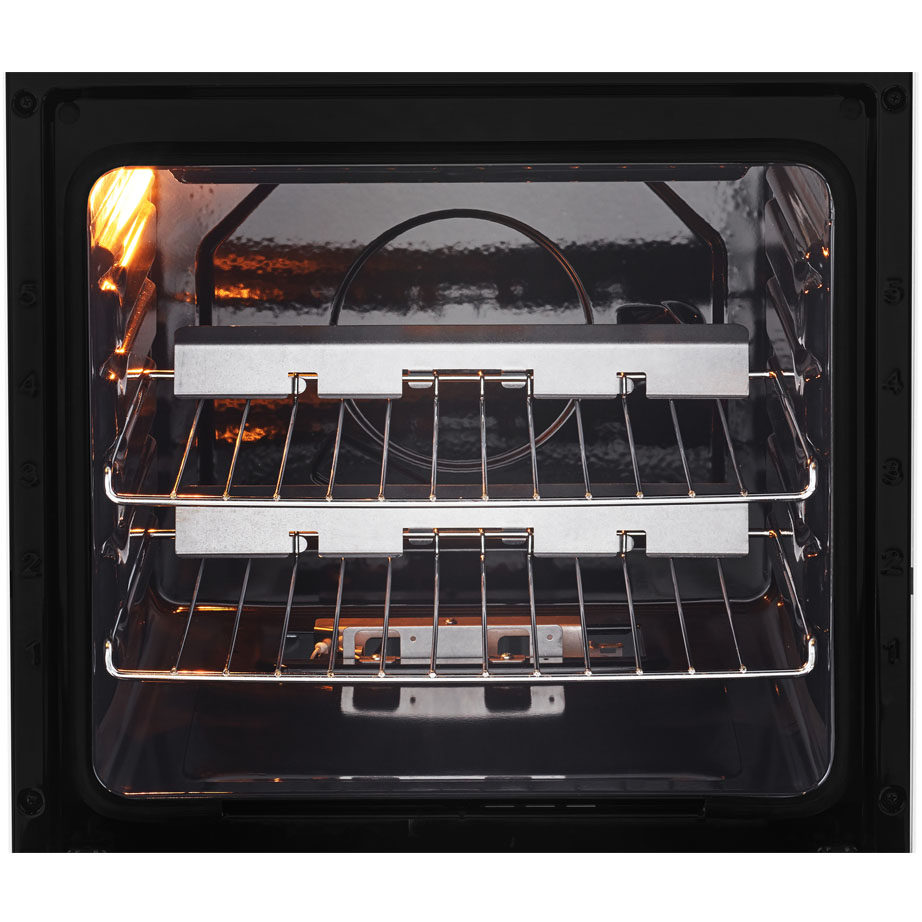 Beko Gas Cooker With Eye Level Grill inside the oven