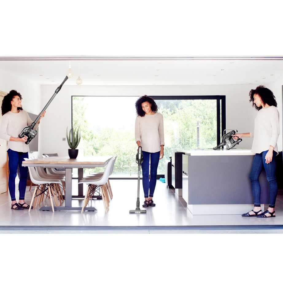 Hoover Cordless Vacuum Cleaner in multiple positions